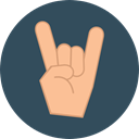 festival, Hand, Hand Gesture, Heavy Metal, Rock And Roll, Gesture, Concert, Gestures, Music And Multimedia, Hands And Gestures DarkSlateGray icon