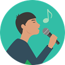 music, Man, people, singer, Concert, Music And Multimedia LightSeaGreen icon