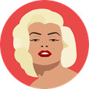 user, Marilyn Monroe, Female, woman, Avatar, Actress Tomato icon
