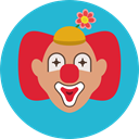 user, Avatar, job, Clown, Circus, carnival, Costume, profession, Fairground, Professions And Jobs LightSeaGreen icon