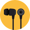 sound, Audio, Headphones, technology, earphones, Music And Multimedia SandyBrown icon