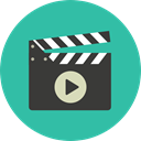cinema, film, movie, Clapboard, Clapperboard, clapper, entertainment LightSeaGreen icon