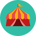 Circus, Tent, entertainment, leisure, Entertaining LightSeaGreen icon