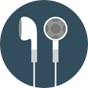 sound, earphones, Music And Multimedia, Audio, Headphones, technology DarkSlateGray icon
