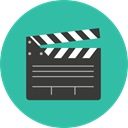 entertainment, cinema, film, movie, Clapboard, Clapperboard, clapper LightSeaGreen icon