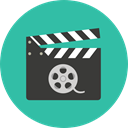 Clapboard, Clapperboard, clapper, entertainment, cinema, film, movie LightSeaGreen icon