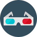cinema, film, movie, 3d glasses, entertainment, filming DarkSlateGray icon