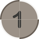 cinema, numbers, count, One, counting, entertainment, Countdown Gray icon