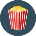 cinema, food, popcorn, snack, Fast food, Salty, Food And Restaurant DarkSlateGray icon