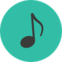 music, interface, music player, song, musical note, Quaver, Music And Multimedia LightSeaGreen icon