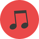 music, interface, music player, song, musical note, Quaver, Music And Multimedia Tomato icon