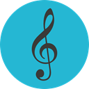 G Clef, Musical Sign, Music And Multimedia, music, clef, music note, musical note LightSeaGreen icon
