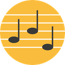 Quaver, Music And Multimedia, music, interface, music player, song, musical note SandyBrown icon