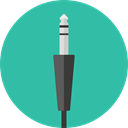 Cable, Connection, jack, technology, electronic, electronics, Jack Connector LightSeaGreen icon