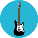 music, Electric guitar, musical instrument, Orchestra, String Instrument, Music And Multimedia LightSeaGreen icon