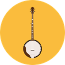 music, Folk, musical instrument, Orchestra, String Instrument, Banjo, Music And Multimedia SandyBrown icon