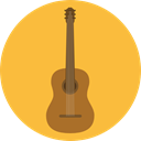 music, guitar, flamenco, Folk, musical instrument, Spanish Guitar, Orchestra, Acoustic Guitar, String Instrument, Music And Multimedia SandyBrown icon