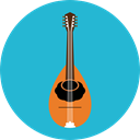 music, Music And Multimedia, String Instrument, Mandolin, Banjo, Folk, musical instrument, Orchestra LightSeaGreen icon
