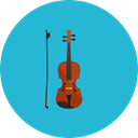 music, Violin, Music And Multimedia, musical instrument, Orchestra, String Instrument LightSeaGreen icon