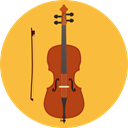 Music And Multimedia, musical instrument, Orchestra, String Instrument, music, Violin SandyBrown icon