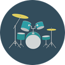 music, Orchestra, Drum Set, Music And Multimedia, Drum, musical instrument, Percussion Instrument DarkSlateGray icon
