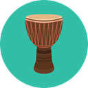 African, musical instrument, Percussion Instrument, Music And Multimedia, Djembe LightSeaGreen icon