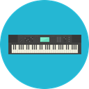 Keyboard, music, piano, electronic, organ, musical instrument, synthesizer, Music And Multimedia LightSeaGreen icon
