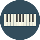 Keyboard, music, piano, electronic, organ, musical instrument, synthesizer, Music And Multimedia DarkSlateGray icon