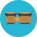 Orchestra, Music And Multimedia, Bongos, music, musical instrument, Percussion Instrument LightSeaGreen icon