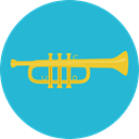 musical instrument, Wind Instrument, Orchestra, Music And Multimedia, music, jazz, Trumpet LightSeaGreen icon