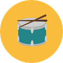 Music And Multimedia, music, Drum, musical instrument, Percussion Instrument, Orchestra SandyBrown icon