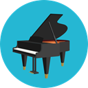 musical instrument, Orchestra, Music And Multimedia, Keyboard, music, piano, Keys LightSeaGreen icon