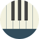 music, piano, electronic, organ, musical instrument, synthesizer, Music And Multimedia, Keyboard Beige icon