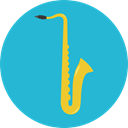 sax, Wind Instrument, Music And Multimedia, jazz, saxophone, musical instrument, music LightSeaGreen icon