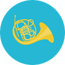 Orchestra, French Horn, Music And Multimedia, music, Music Instrument, Wind Instrument LightSeaGreen icon