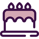 Bakery, Birthday Cake, Food And Restaurant, birthday, cake, food, Dessert, Celebration MidnightBlue icon