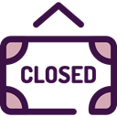 sign, store, Closed, commerce, Shop, signs, Signaling MidnightBlue icon
