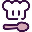 Food And Restaurant, spoon, kitchen, Chef, Cooking MidnightBlue icon