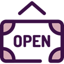 open, sign, Business, signal, Shop, Signaling MidnightBlue icon