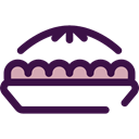 pie, food, Dessert, sweet, Bakery, Food And Restaurant Black icon