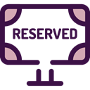 sign, Restaurant, reserved, Signaling MidnightBlue icon