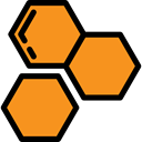 Bees, Food And Restaurant, Farming And Gardening, organic, Honey, honeycomb DarkOrange icon