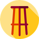 Seat, Chair, buildings, furniture, stool, Furniture And Household Gold icon