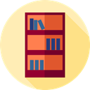 Book, Library, Bookcase, storage, furniture, Bookshelf, Furniture And Household Moccasin icon