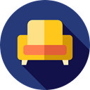 Furniture And Household, stand, furniture, decoration, Armchair MidnightBlue icon