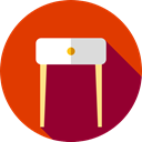 stand, furniture, decoration, Furniture And Household OrangeRed icon