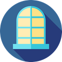 window, decoration, Household, Furniture And Household SteelBlue icon
