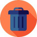 Trash, interface, Basket, Bin, Garbage, Can, Tools And Utensils, Furniture And Household Coral icon