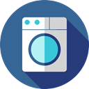 Clean, cleaning, wash, washing, washing machine, Housekeeping, Electrical Appliance, Furniture And Household SteelBlue icon