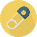 miscellaneous, Attach, Attachment, Tools And Utensils, Safety Pin SandyBrown icon